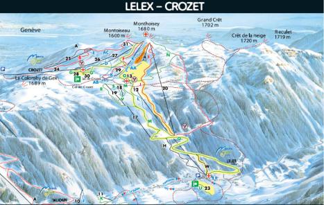Plan des pistes Lelex-Crozet
