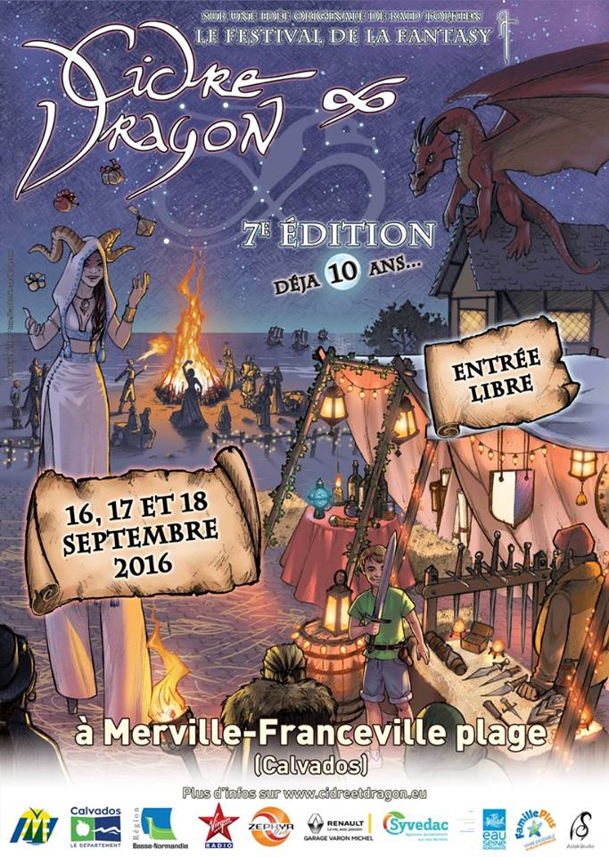 En Normandie, le festival «Cidre & Dragon» du  16 au 18 septembre2016