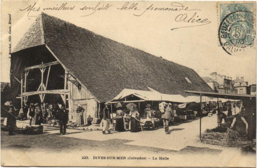 Les halles médiévales de Dives-sur-Mer(Normandie)