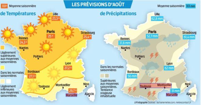 Prévisions météo en France AOUT16 image une